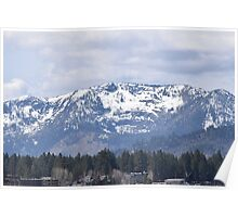 Snow Covered Mountain Tops Poster