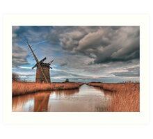 Brograve Drainage Mill Art Print