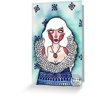Snow Lady Greeting Card