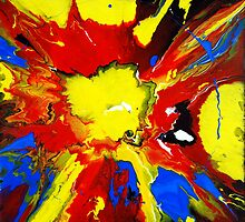 Big Explosion Abstract Painting by markchadwick