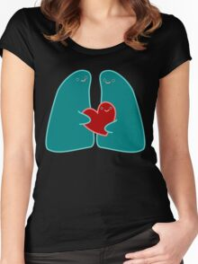 We'll take care of you with every breath Women's Fitted Scoop T-Shirt
