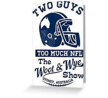 Two Guys Too Much NFL Greeting Card