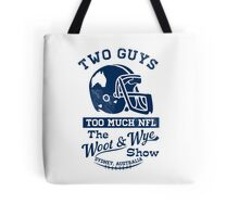 Two Guys Too Much NFL Tote Bag