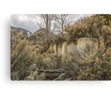 Ghost Town Foundation in Standardville, Utah Canvas Print