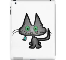 Gray Kitten has a Blue Mouse Toy iPad Case/Skin
