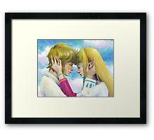 Link and Zelda Framed Print