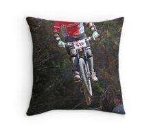 Pine Forest Jump Throw Pillow