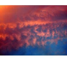 RED RIPPLES Photographic Print
