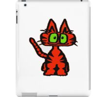 Dark Orange Tiger Cat iPad Case/Skin