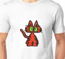 Dark Orange Tiger Cat Unisex T-Shirt