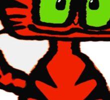 Dark Orange Tiger Cat Sticker