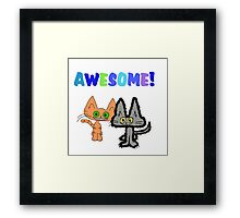 Two Kittens See Something Awesome  Framed Print