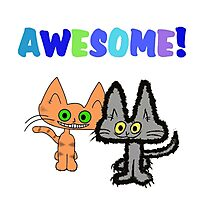 Two Kittens See Something Awesome  Photographic Print