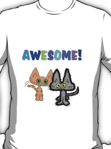 Two Kittens See Something Awesome  T-Shirt