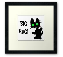 Kitty Gives Big Hugs Framed Print