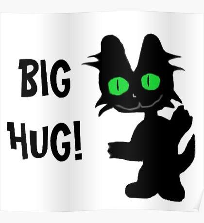 Kitty Gives Big Hugs Poster