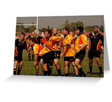 Masters Games - Rugby Union 2009 Greeting Card