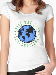 Save Our Planet Earth 2015 Women's Fitted Scoop T-Shirt