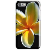 Yellow Plumeria iPhone Case/Skin