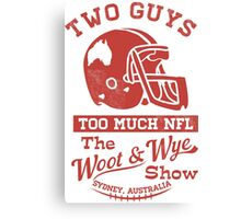 Two Guys Too Much NFL Red Edition Canvas Print