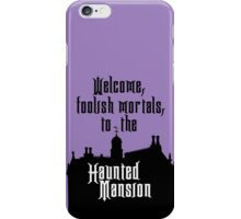 Haunted Mansion - Walt Disney World iPhone Case/Skin