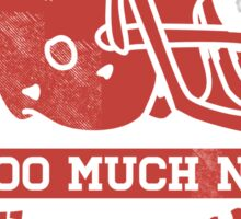 Two Guys Too Much NFL Red Edition Sticker