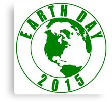 Earth Day 2015 Green Design Canvas Print