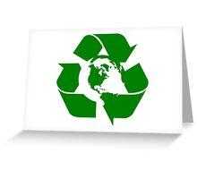 Earth Day Recycle Reuse Reduce Design Greeting Card