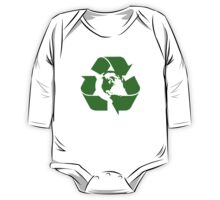 Earth Day Recycle Reuse Reduce Design One Piece - Long Sleeve