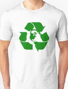 Earth Day Recycle Reuse Reduce Design Unisex T-Shirt