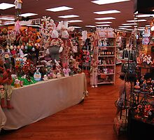 Bunnies, and knick knacks, sewing and ribbons, toys and books, medicines and collections by Wayne Cook