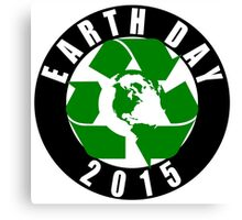 2015 Earth Day Recycle Design Canvas Print