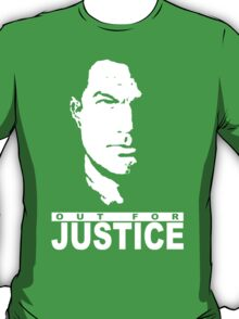 Stencil Steven Seagal Out For Justice T-Shirt