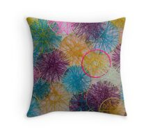 Multi-Colored Circles  Throw Pillow