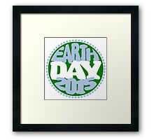 Earth Day 2 Color Design Framed Print