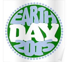 Earth Day 2 Color Design Poster