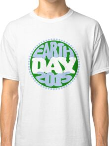 Earth Day 2 Color Design Classic T-Shirt