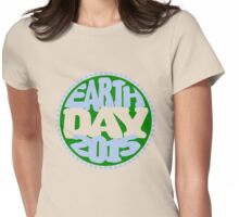 Earth Day 2 Color Design Womens Fitted T-Shirt