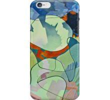 Untitled in blue and sea foam iPhone Case/Skin
