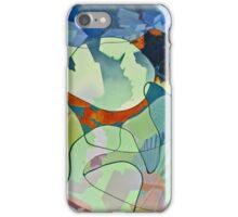 Untitled in blue and sea foam iPhone Case/Skin