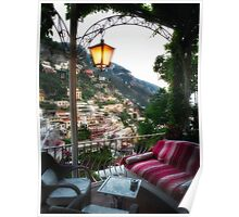 Lounge Chairs on a Terrace Poster