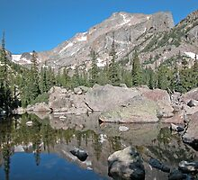 Hallet Peak Rocky Mountain National Park by Luann wilslef