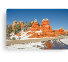 Entrance to Red Canyon on Highway 12 in Utah Canvas Print