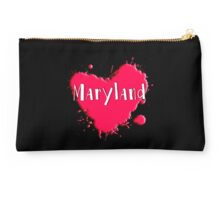 Maryland Splash Heart Maryland Studio Pouch