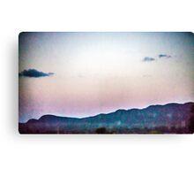 Static Sunset Canvas Print