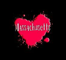 Massachusetts Splash Heart Massachusetts by Greenbaby