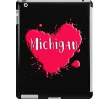 Michigan Splash Heart Michigan iPad Case/Skin