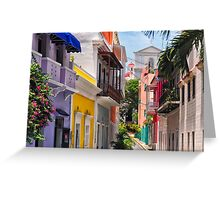 Colorful Streets of Old San Juan, Puerto Rico Greeting Card