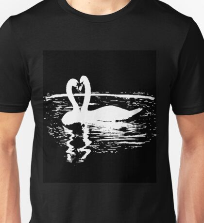 Black & White Swan Unisex T-Shirt