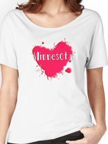 Minnesota Splash Heart Minnesota Women's Relaxed Fit T-Shirt